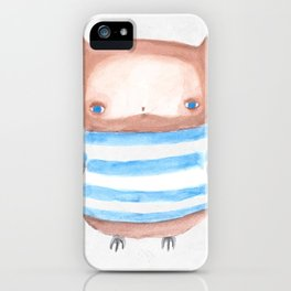 Owl in Stripes iPhone Case