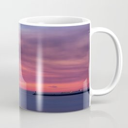 Red sunset over the ocean Coffee Mug