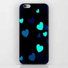 Blue Hearts iPhone & iPod Skin