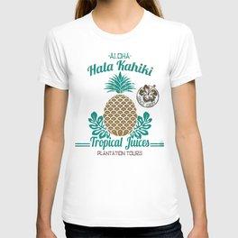 Hala Kahiki Juice Stand wooden board. T-shirt