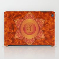 chakra iPad Cases featuring Sacral Chakra  by Gypsy Owl Productions
