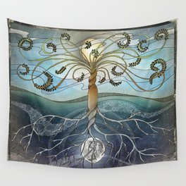 dichotomy of the rotation Wall Tapestry