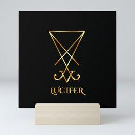 Sigil of Lucifer- A symbol of satanic god Lucifer in gold Mini Art Print