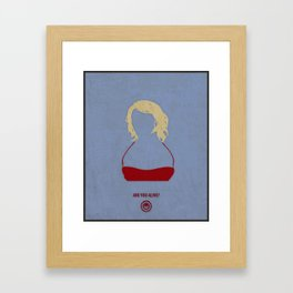 Caprica Six Framed Art Print