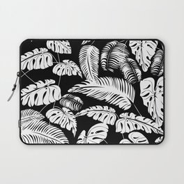 Tropical leaves pattern Laptop Sleeve