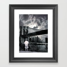 drove all the beast down Framed Art Print