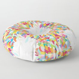 fizzy feathers Floor Pillow