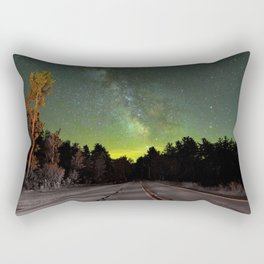Northern Lights (Color) Rectangular Pillow