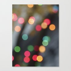 Tree Lights Canvas Print
