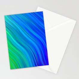 stripes wave pattern 1 stdv Stationery Cards