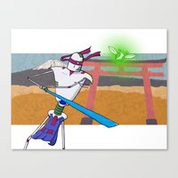 ninja Canvas Prints featuring Ninja by Mike Singleton