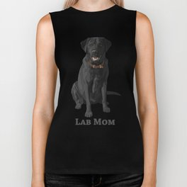 Dog Mom Black Labrador Retriever Biker Tank