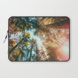 California Redwoods Sun-rays and Sky Laptop Sleeve