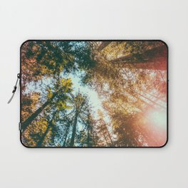 California Redwoods Sun-rays and Sky Laptop Sleeve