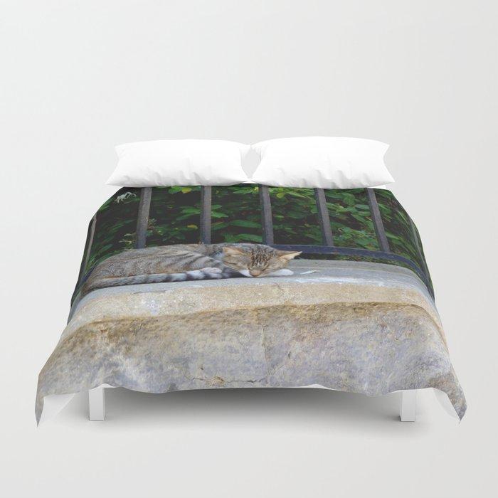 Sleeping Cat Duvet Cover
