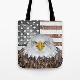 American Bald Eagle Patriot Tote Bag