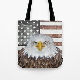American Bald Eagle Patriot Tote Bag