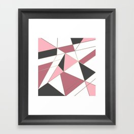 Abstraction . 4 geometric pattern Framed Art Print