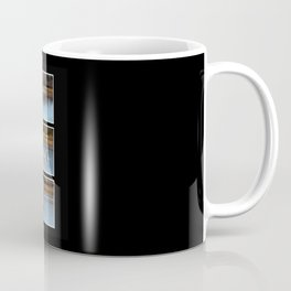Gone Fishing Triptych Black Coffee Mug