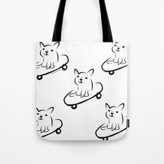 skate boarder french bull dog Tote Bag