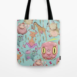 Misfit Animals Tote Bag