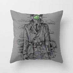 Magritte Noir Throw Pillow