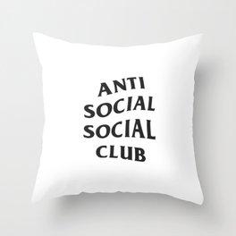 Anti social social club new 2018 style Throw Pillow