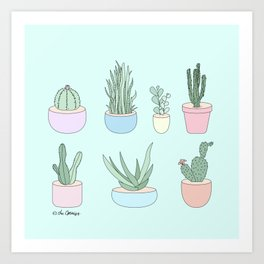 I Have A Things With Cactus Art Print
