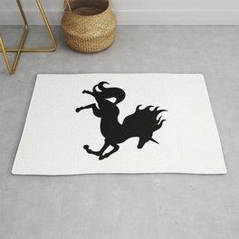 Simple Black Unicorn Rug