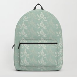 Floral Pattern in Greyish Green Backpack