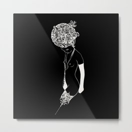 Haute Noir Metal Print