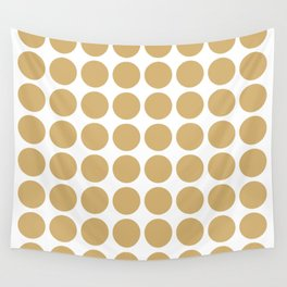 Putty Neutral Dots Wall Tapestry