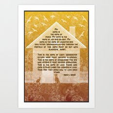 My Home - Baha'i quotation Art Print
