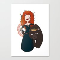 merida Canvas Prints featuring Merida by Miggea