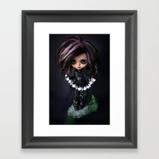EDWARD SCISSORHANDS CUSTOM BLYTHE DOLL Framed Art Print
