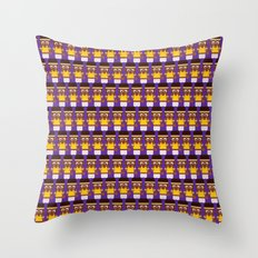 Basketball - Gold and Purple Throw Pillow