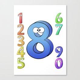 Eight! Canvas Print