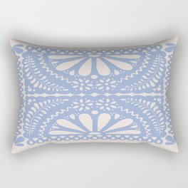 Fiesta de Flores Serenity Blue Rectangular Pillow