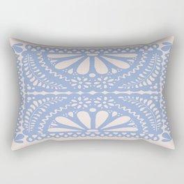 Fiesta de Flores Serenity Blue Rectangular Pillow