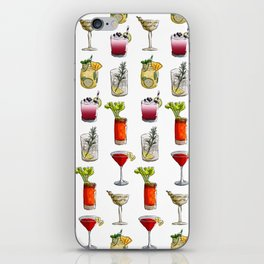 Classic Cocktails Pattern - Classic Cocktails series iPhone Skin