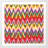 chevron Art Prints featuring Chevron by Aimee St Hill