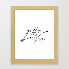 Griffin Rebel Framed Art Print