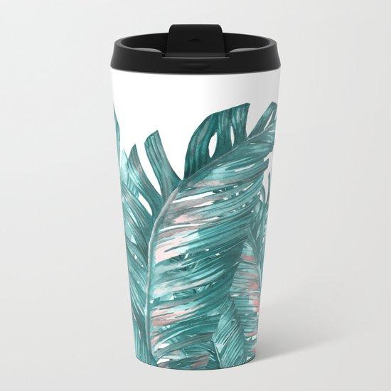 tropical blue Metal Travel Mug