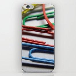 paper clips iPhone Skin