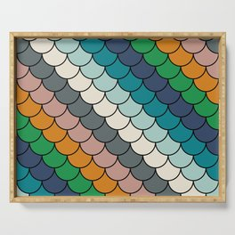Colorful scales pattern I Serving Tray