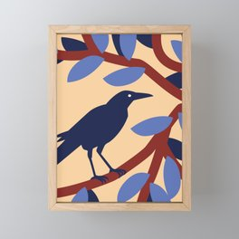 Grackle Framed Mini Art Print