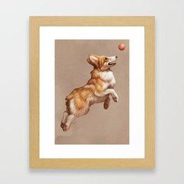 Catch the ball Framed Art Print