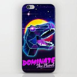 Electric Jurassic Rex - Dominate the Planet iPhone Skin