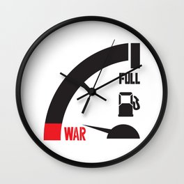 just a mile away from war Wall Clock