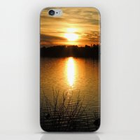 thanksgiving iPhone & iPod Skins featuring Thanksgiving Sky by Mim White